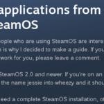 SteamOS 2.0でDebianリポジトリ設定
