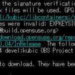 Ubuntuのapt updateにてsignature verificationエラーの対処例